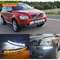 EeMrke High Power LED DRL Para Volvo XC90 DRL Branco Cobertura Nevoeiro Luzes Diurnas Kits