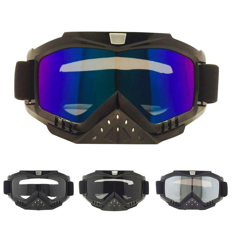 Ветрозащитная Очки сноуборд лыжные очки Регулируемый УФ защитные Портативный мотоцикл играть в игры очки