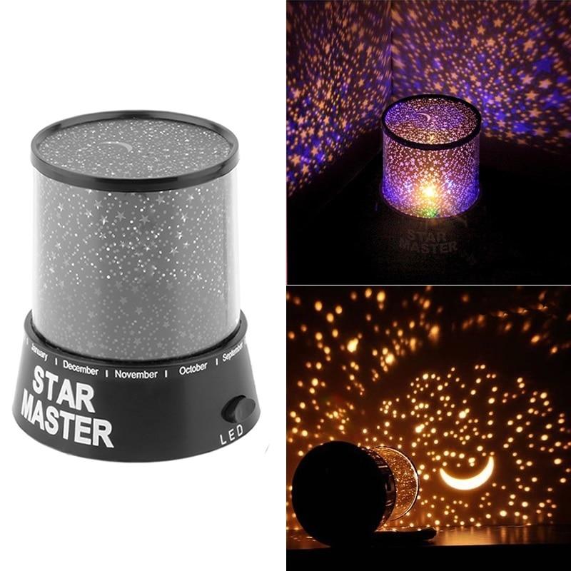 2019 Christmas Gift Present Star Sky Star Master Projector Night Light For Kids Children Girls Birthday Gifts