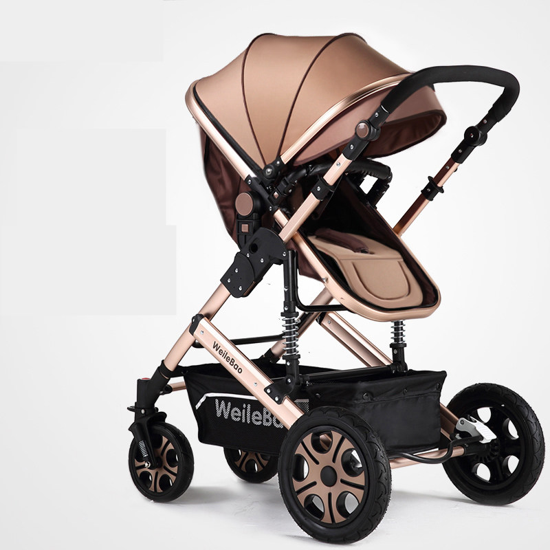 High Quality High Landscape Prams For Newborn Folding Baby Stroller poussette Sit and Lie  Infant Carriage Buggy bebek arabasi decoration protective guard rubber bar for car front and rear bumper black 2 pcs
