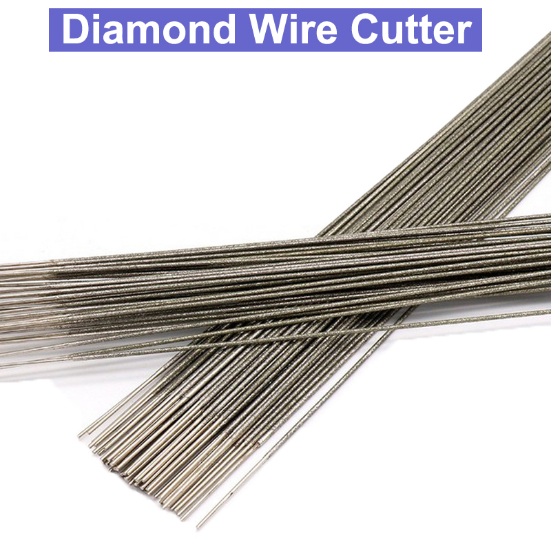 400mm Diamond Wire Saw Blade Cutter Jade Amber Sapphire Cutting Saw Blade Tool Saw Blades Cutting Metal Wire 1.0mm 1.2mm 1.5mm