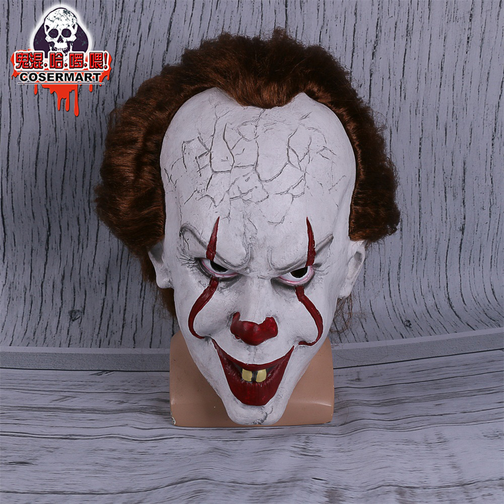 2017 Movie Stephen King's It mask Joker Mask Tim Curry Horrible Mask Cosplay Halloween Party (9)
