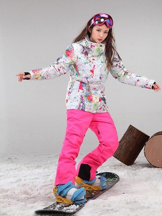 2017 nuevas mujeres de impresión traje de esquí femenino - Ropa deportiva y accesorios - foto 1