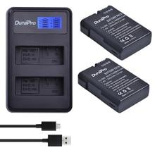 2 x DuraPro EN-EL14a EN-EL14 EL14 Battery + LCD USB Dual Charger For Nikon Df Battery D5500 D5300 D3300 D5100 D5200 D3100 D3200