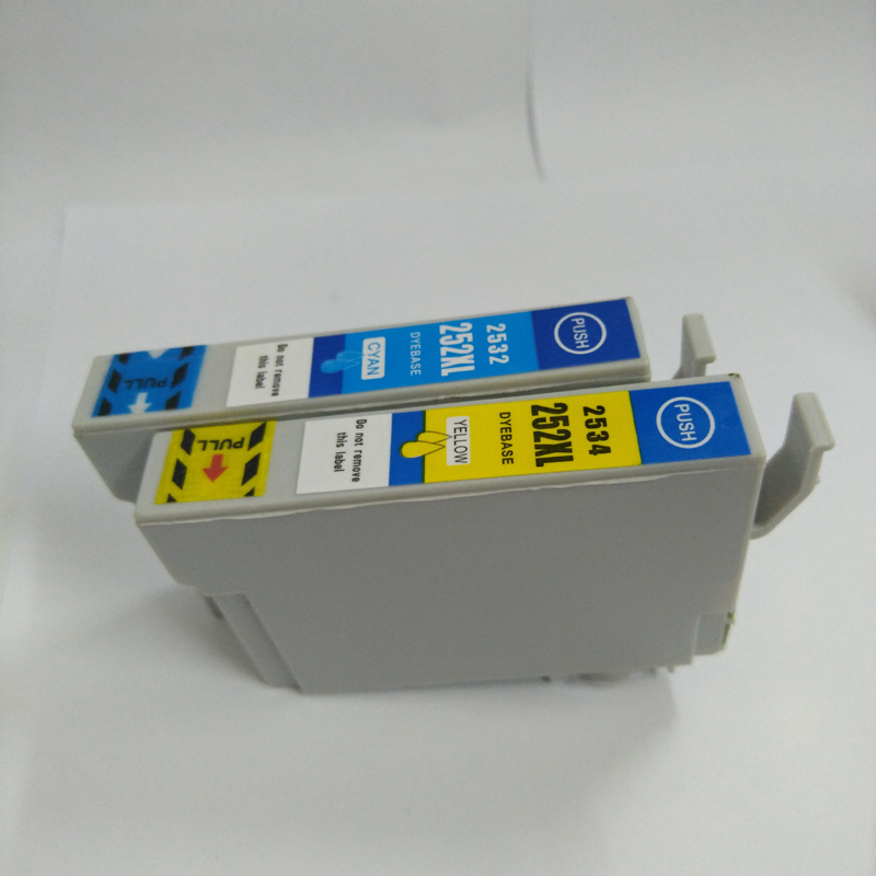 Vilaxh For epson 252XL compatible ink cartridge for epson 2531 2532 2533 2534 Stylus Photo WF3620 WF3640 WF7610 WF7620 Pritner in Ink Cartridges from Computer Office