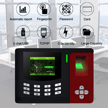 цена на Fingerprint Time Attendance System TCPIP USB Biometric Fingerprint Door Access Control Keypad Time Clock Employee Office Machine