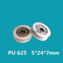 Plastic nylon bearing with U grooves and plastic nylon bearing 625 inner diameter 5mm 5*24*7U groove groove injection pulley