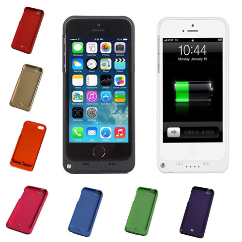 New 2200mAh Rechargeable External Battery Backup Charger Case Cover Pack Power Bank for iPhone 5 5S