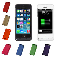 New 2200mAh Rechargeable External Battery Backup Charger Case Cover Pack Power Bank for iPhone 5 5S Ten Colors