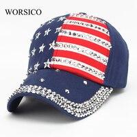 Summer Baseball Cap Women 2017 High Quality Brand Cotton Hat For Men Women Snapback Cap Rhinestone
