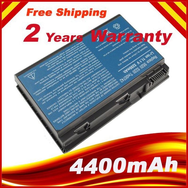 New 6 Cell Laptop Battery For Acer Extensa 5235 5420G 5620G 5630 5630G 7220 7620 7620G 5210-300508 5220 5220-100508
