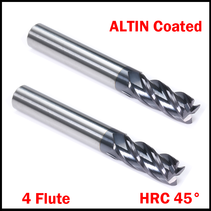 14mm 16mm Cuttiing Edge 4 Flute HRC45 Solid Carbide Micro Grain Altin Coated Flat End EndMill CNC Tool Milling Cutter цена