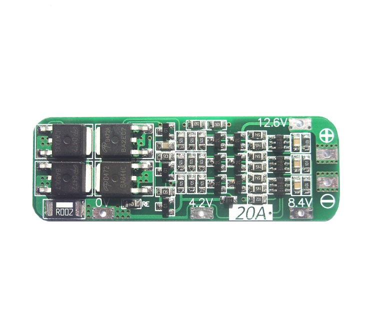 New Arrival 3S 20A Li-ion Lithium Battery 18650 Charger PCB BMS Protection Board 12.6V Cell 64x20x3.4mm Module  48vbattery protection bms pcb board for13s 80a li ion cell max 80a communication base station storage