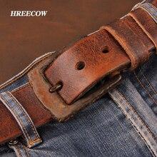 Личность Топ Корова натуральная кожа пояса для мужчин джинсы Сделать старые ржавые пряжки ретро старинные мужские мужской ковбой ремень ceinture homme