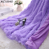 XC USHIO Super Soft Long Shaggy Fuzzy Fur Faux Fur Warm Elegant Cozy With Fluffy Sherpa