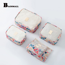 Luggage Bags - Travel Accessories - BAGSMALL 6PCS/Set Packing Cubes Travel Waterproof Luggage Packing Organizers Garment Laundry Bag Organized Carryon Suitcase