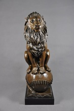 24″ High Quality sculptures Formidable Lion Bronze Statue House Decoration Chinese Guardian Lions