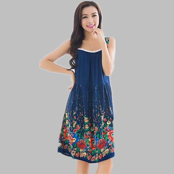 Plus Size Nightgowns Women Sexy Spaghetti Strap Night Dress Summer Elegant Night Gowns Ladies Sleepshirts Cotton Sleepwear 1