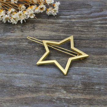 Metal Ponytail Holder with Star/penta gramme Hairclips women hair accessories 1