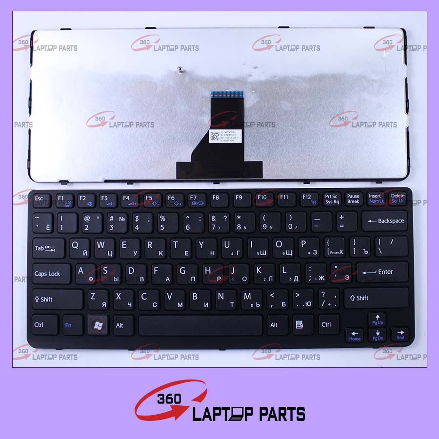 Russian laptop keyboard for sony SVE14 RU Black 9z.N6BSF.HOR with frame model
