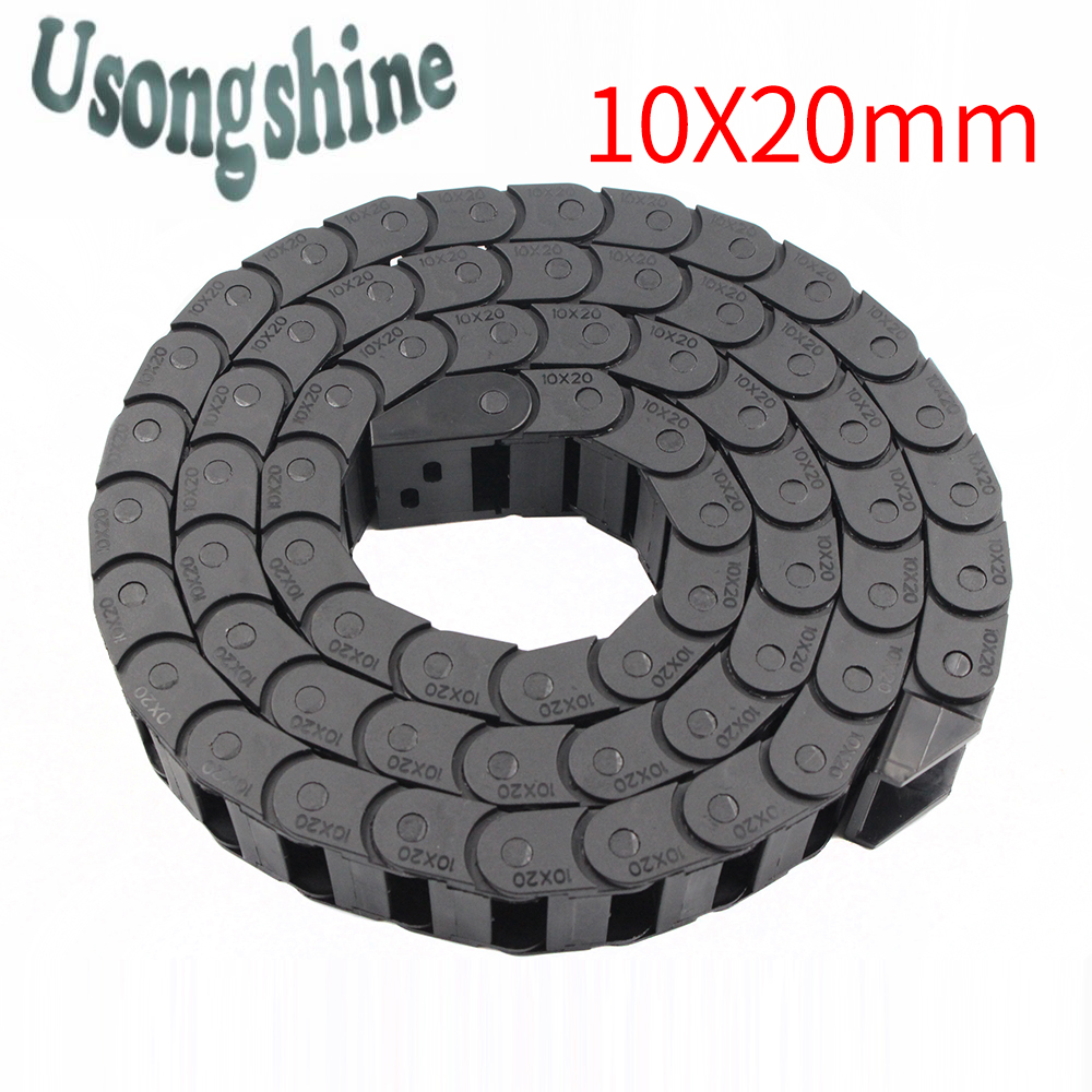 Transmission Chains 10 x 20mm L1000mm Cable Drag Chain Wire Carrier with end connectors for CNC Router Machine Tools 10*20mm free shipping best price 10 x 15mm l550mm cable drag chain wire carrier with end connectors for cnc router machine tools