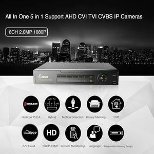 Image 2 - KEEPER enregistreur vidéo avec DVR hybride, 8 canaux 1080P Full HD, pour caméra AHD TVI CVI AHD CVBS IP, 5 en 1