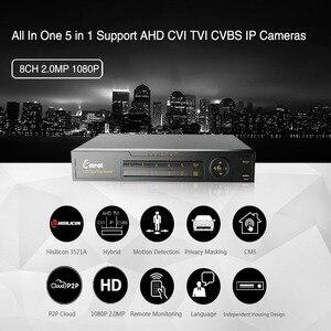 Image 2 - Nie miał w tej sytuacji 8 kanał 1080P AHD Full HD 5 w 1 hybrydowy DVR nadzoru wideorejestrator dla kamera AHD TVI CVI AHD CVBS kamera IP