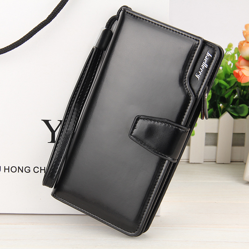 European American Fashion New Foreign Business Leisure Long Zipper Hasp Hand Package Light Leather Card Holder Wallet For Women casual weaving design card holder handbag hasp wallet for women