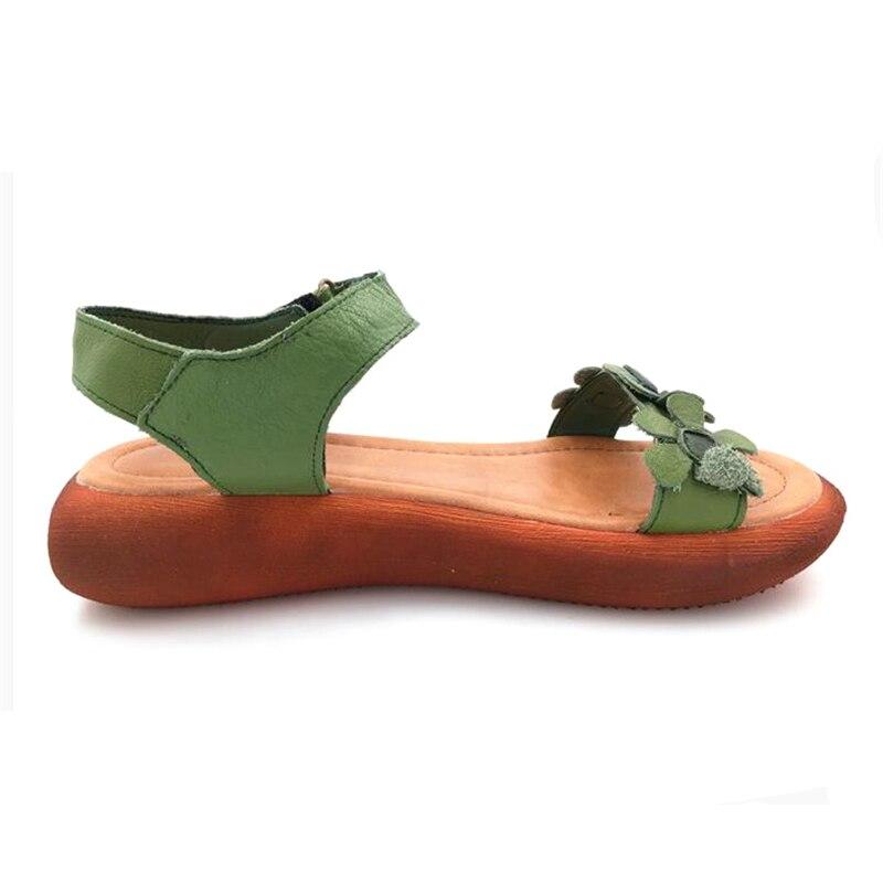 Abedake merk dames sandalen open teen lederen handgemaakte zomer - Damesschoenen - Foto 3