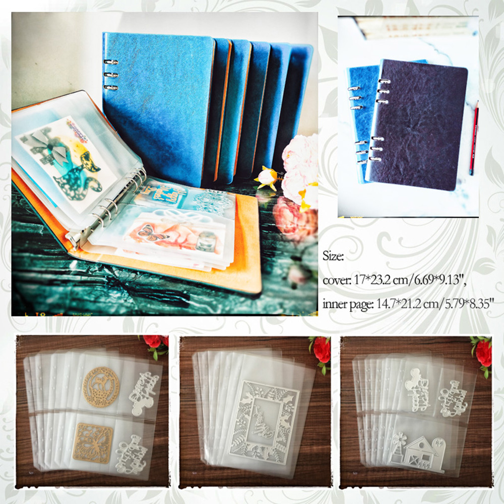 DIY Scrapbooking Cutting Dies Stencil Storage Book Collection Album Inner Pages/Cover Holder
