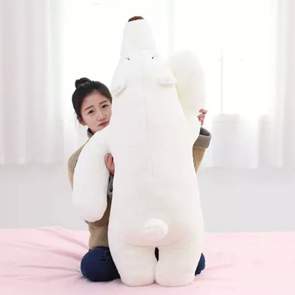 купить white polar bear about 100 cm prone bear plush toy , birthday gift x142 дешево
