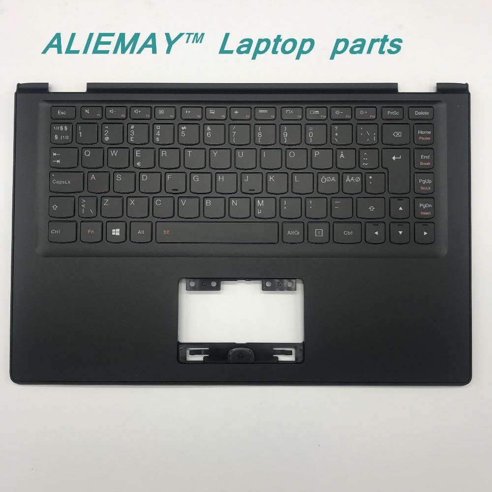 Laptop parts for LENOVO YOGA 2 13 Yoga2-13 BLACK Palmrest with Backlit Norway NOR Keyboard 90205180 laptop parts for lenovo yoga 2 13 yoga2 13 silver palmrest with backlit arab keyboard 90205138