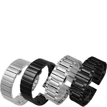 20mm 22mm Stainless Steel Metal Strap silvery black for TICwatch 1 2 E PRO smart Watch Accessories