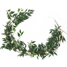 Artificial Hanging Willow Leaves Vines Simulation Willow Green Plant Leaves Garland String for Home Garden Decoration