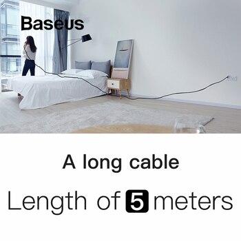 Baseus Nylon 5 M Cable USB Cable para iPhone 6 6 s Plus 2A de Cable de carga rápida de Reversible para Apple iPhone cargador X 8 Plus Cable USB