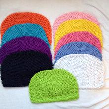 2000 unids lote sombreros del Kufi muchacha del sombrero del bebé del  ganchillo DE LA gorrita tejida del casquillo del niño del . f87bdd568ac