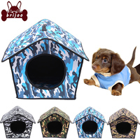 Collapsible Dog Kennel Camouflage Pet Hut Breathable Pet Kennel Cat House EVA Compound Fabric House