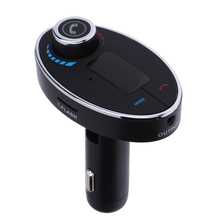 New Bluetooth car kit FM Transmitter Bluetooth MP3 12V auto Music auto MP3 Player speaker with Dual USB Charger Hands-free Cal