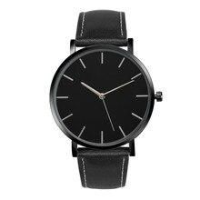 Quartz Watch Men Women Unisex Famous Brand Faux Leather Band Women Watches Luxury Watch Women Montre Femme Wristwatches #NI