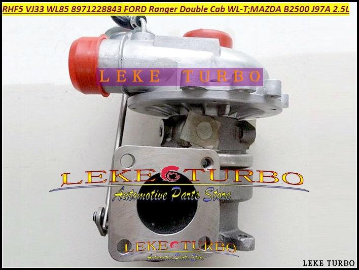 Bateau libre RHF5 VJ33 WL85 VC430090 8971228843 Turbo Turbocompresseur Pour FORD Ranger Pour Mazda Bravo B2500 1999-WL-T J97A 2.5L 115HP