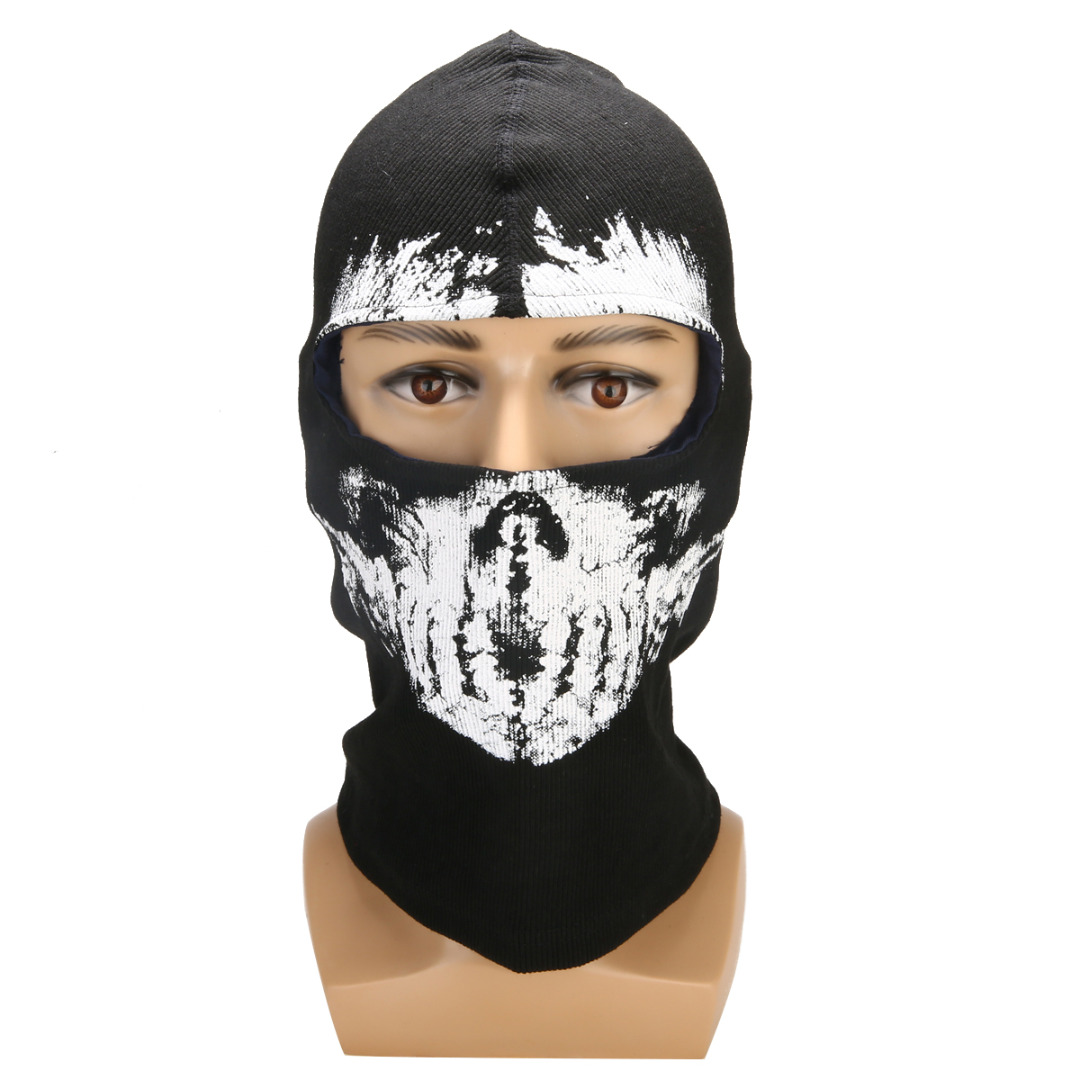 Image 5 - 1PC Motorcycle Balaclava Ghost Skull Mask Cycling Full Face Airsoft Game Cosplay Mask Headgear For Riding Skiing Outdoor Sports-in Motorcycle Face Mask from Automobiles & Motorcycles