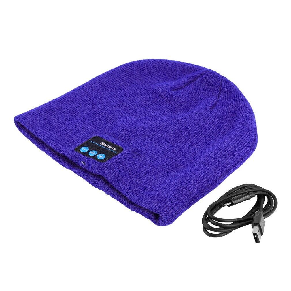 New Bluetooth Music Soft Warm Beanie Hat With Stereo Headset Speaker Mic Headphone Wireless Hands-free Cap yopo® new mini wireless waterproof shower stereo bluetooth speaker w mic