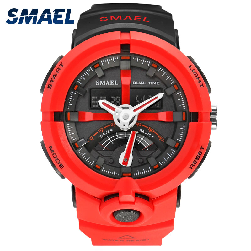 Cool LED Watch Men Analog Alarm S Shock led Digital Wrist Watch Mens SMAEL Watch Men 1637 relogio masculino Sport Watch Running led watch от adidas
