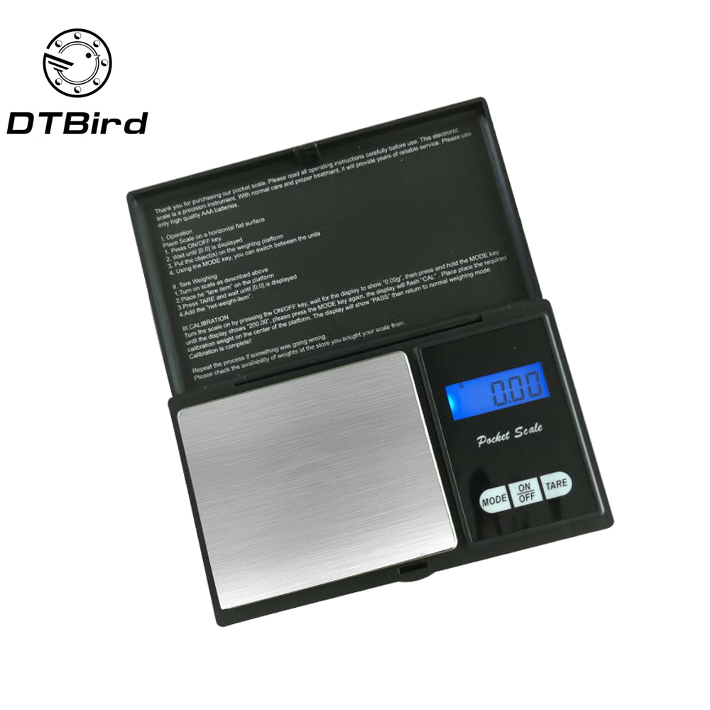 High precision 200/100/500g x 0.01g Digital kitchen Jewelry Gold Balance Weight Gram LCD Pocket weighting Electronic Scales lcd digital jewelry scales 500g 0 1g electronic scale precision portable pocket weight balance kitchen gram scale