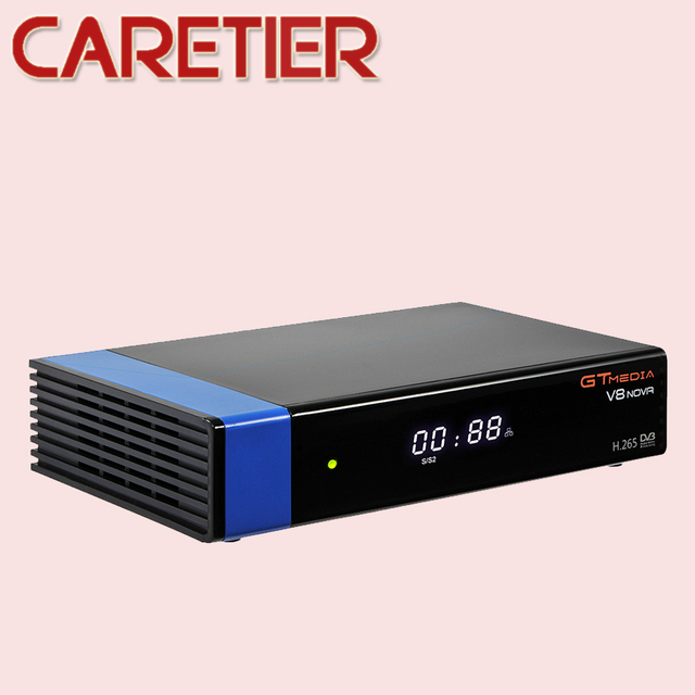 2019 GTmedia V8 نوفا الأزرق DVB S2 HD استقبال الأقمار الصناعية دعم H.265 TV Ccam Newcamd powervu Biss بنيت واي فاي فك التشفير جديد