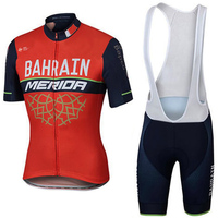 2017 New Team Bahrain MERIDA Ropa Ciclismo Quick Dry Clothing Mens Clothes Cycling Jersey Bike Shorts