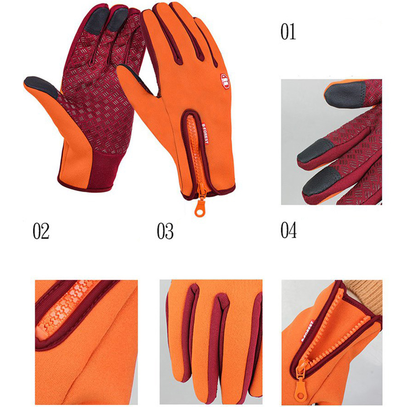 Men Winter Full Finger Cycling Gloves Screen Touch Hunting Outdoor Sporting Camping S/M/L/XL Five Colors Guantes Ciclismo MTB