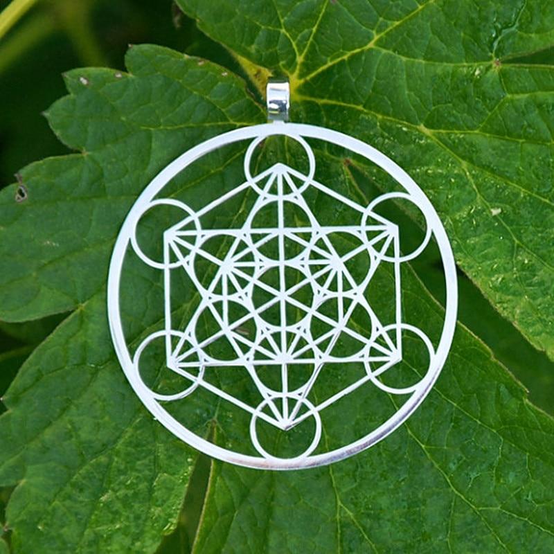 Privjesak Metatron's Cube Posrebrene ogrlice i privjesci za žene Modni nakit Drop shipping