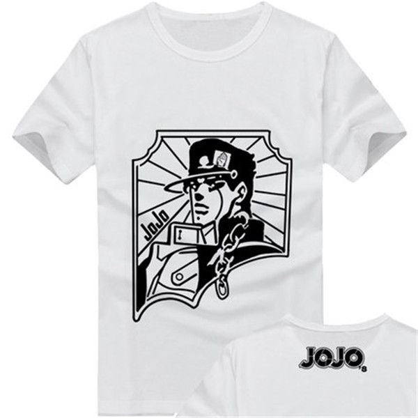 JoJo/'s Bizarre Adventure Short Sleeve Anime T-Shirt Tops Unisex free shipping