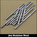4pcs M6 140mm M6*140mm (Thread Length 35mm) 304 Stainless Steel Dual Head Screw Rod Double End Screw Hanger Blot Stud